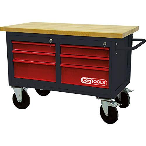 KS Tools 8650011 Fahrbare Werkbank mit 6 Schubladen - 2