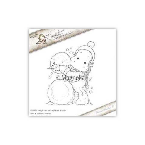 Timbro Magnolia - Io e il mio pupazzo di neve - Me and my Snowman