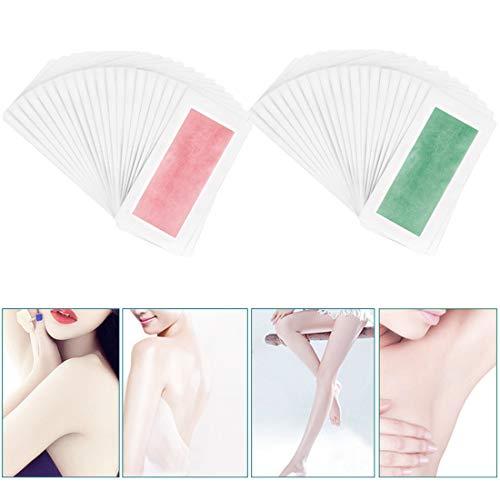 Doppelseitiges Kaltwachs-Papier für Bikini-Bein-Körper-Gesichts-Unterarm-Berufshaar-Abbau-Wachs-Streifen für Enthaarung -