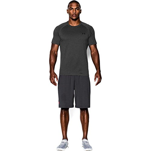 Under Armour Herren UA Tech Ss Fitness T-Shirt, Carbon Heather, - Tech-bekleidung La