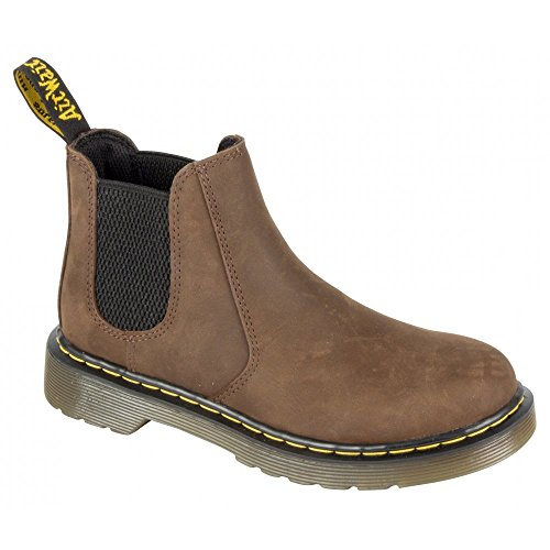 Dr Martens Infants Shenzi Leather Zip Chelsea Boot Brown Dunkelbraun
