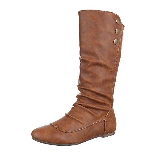 Leicht Ital design Camel Schuhe Blockabsatz Damen pg Komfortstiefel 629 Stiefel Klassischer Gefütterte caTfX4q0y