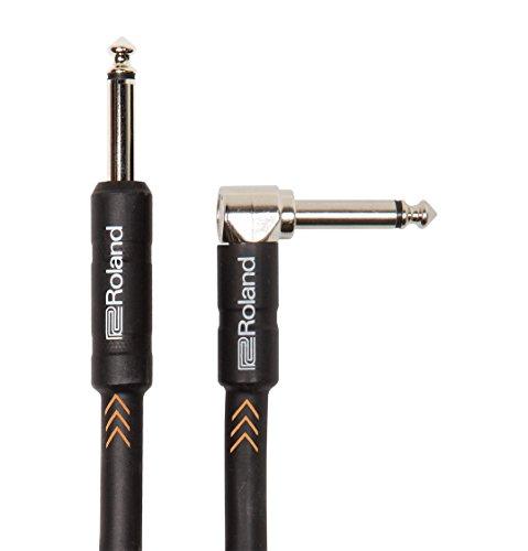 Roland Black-Serie 1,5m Instrumentenkabel, gewinkelt/gerade 6,3-mm-Klinkenstecker - RIC-B5A