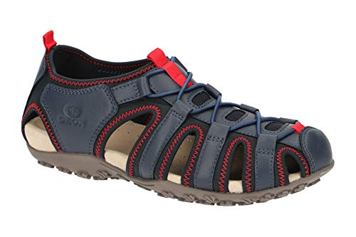 Geox Sandal STREL D9225A Damen Trekking Sandalen,Frauen Outdoor-Sandale,Sport-Sandale,geschlossener Zehenbereich,DUNKELBLAU,41