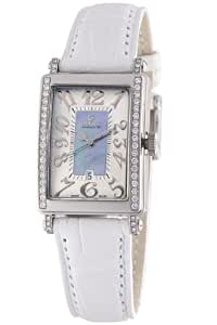 Gevril Avenue of Americas Mini Women's Quartz Watch with Mother of Pearl Dial Analogue Display and Blue Leather Strap 7247NE