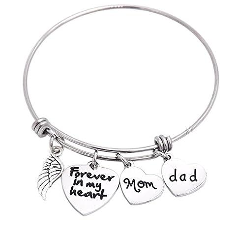 In Memory Of Dad Mom Memorial Jewelry Dad Mom Eltern Verlust Armband Edelstahl