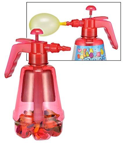 Ballon Pumpe 1,7 Liter mit 200 bunten Wasserballons Wasserbomben 66024