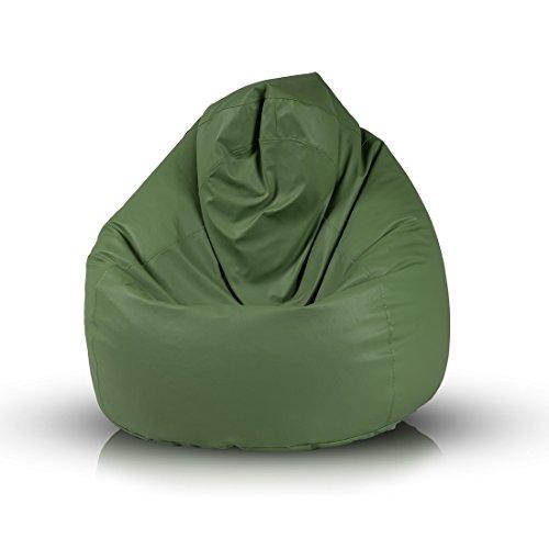Ecopuf Fuzzy Sitzsack Abdeckung, aus Öko-Leder, ideal für Jugendliche und Erwachsene, 100x80 cm,...