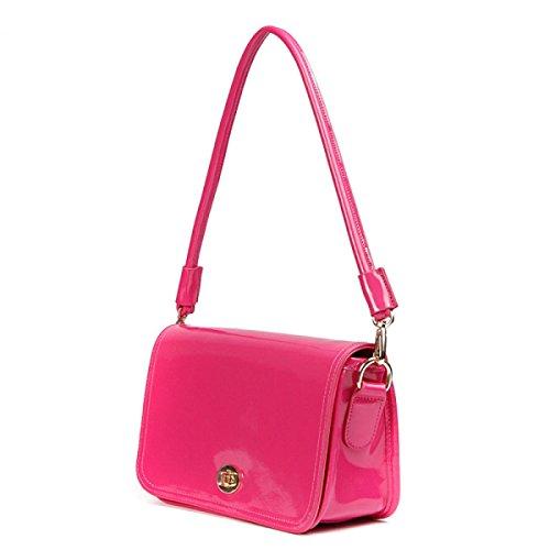 PACK Lady Leather Messenger Packet Jelly Colore Cuoio Brevetto Cuoio Borsa Tracolla Europa E Il Sacchetto Portatile Stati Uniti,C:White A:Rose