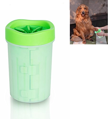 Protable Pet Paw Cleaner, New Disign Dog Cat Foot Cleaner Brush Cup Non-toxic Silicone and Plastic, Comfortable for Dirty And Muddy Paws