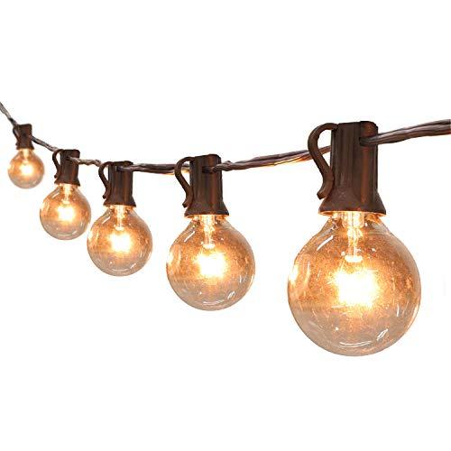 Ersatzglühbirnen Für Weihnachtsbeleuchtung.Upook Globe String Lights G40 Ul Listed Patio Lights For Indoor Outdoor Commercial Decor 25ft With 25 Clear Bulbs Outdoor String Lights For Party