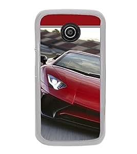 Luxury Red Car 2D Hard Polycarbonate Designer Back Case Cover for Motorola Moto E (1st Gen) :: Motorola Moto E XT1021 :: Motorola Moto E Dual SIM :: Motorola Moto E Dual SIM XT1022 :: Motorola Moto E Dual TV XT1025