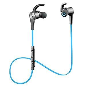 Auriculares Bluetooth 4.1 Auricular magnético SoundPEATS Cascos inálambrico Deportivos, tecnología APTX y de Ruido de Cancelación CVC 6.0,Sonido Estéreo de calidad superior--Q12(Azul)