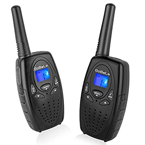 Bobela M880 Easy to use Two Way Radio Transceiver Electronic Toy Walkie Talkies and Festival and Halloween Gift for Kids to Hiking, Biking and Other Outdoor Activities(Black, 1