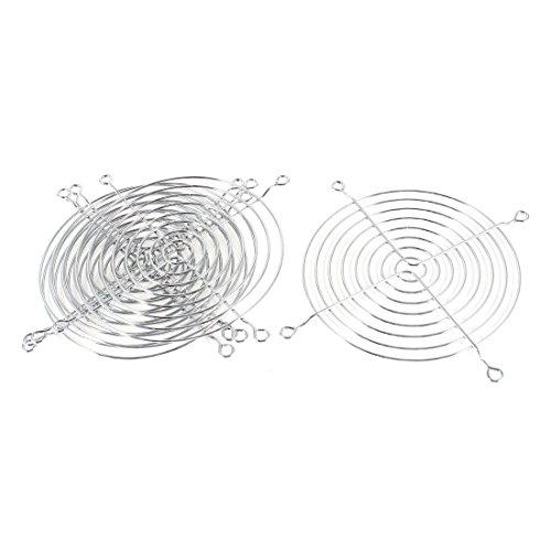 5 Stück silber Metall Lüftergitter Lüfter Grill Fingerschutz für 120mm Kühler (Metal-guard)