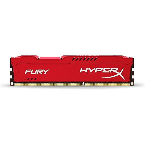 HyperX Fury HX318C10FR/4 Arbeitsspeicher 4GB (1866MHz, CL10) DDR3-RAM rot