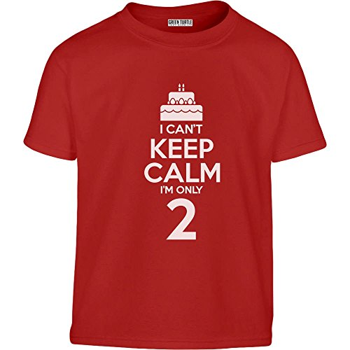 2. Geburtstag - Can't Keep Calm I'm Only 2 Kleinkind Kinder T-Shirt - Gr. 86-128 2T Rot (2 Shirt 2t)