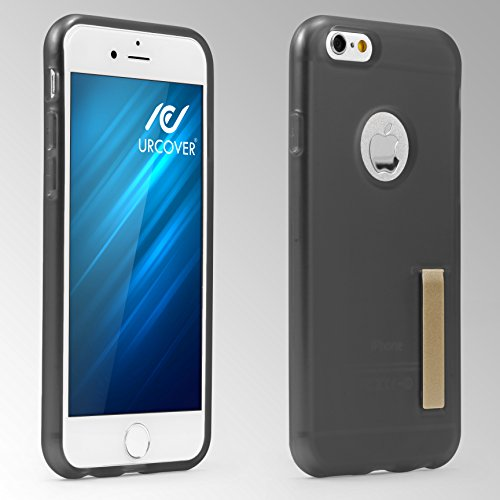 URCOVER® Clip Cover - Coque avec Support | Apple iPhone 6 / 6s | TPU Souple et Léger Transparent | Housse Doux Back Case Stand Arrière Mince Transparent