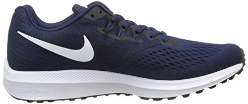 Nike Zoom Winflo 4, Chaussures de Running Homme Bleu (Binary Blue/White-Black-Deep Royal Blue)