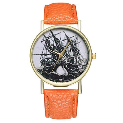 COOKDATE Damen Uhr Analog Quarz mit Armband Kalender Edelstahl Uhr G