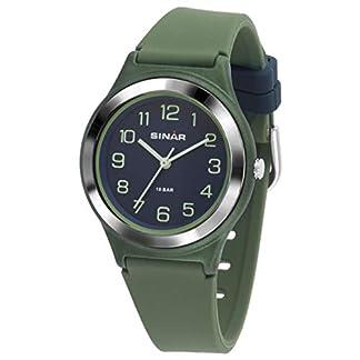 SINAR XB-48-3 – Reloj de Pulsera analógico para jóvenes, Deportivo, de Cuarzo, Sumergible a 10 Bares
