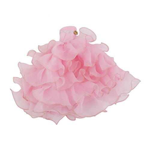 Imported Princess 6-layer Dress Gown for Barbie Doll Pink  available at amazon for Rs.275