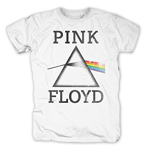 PINK FLOYD - Dark Side Of The Moon - Camiseta Oficial Hombre - Blanco, XX-Large