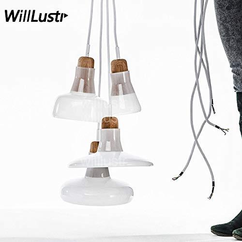 5151BuyWorld Lampe Lamp Modernen Schatten Glas-Anhänger Startseite Licht Wohnzimmer Schlafzimmer Restaurant Cafe Bar Suspension Brokis Design Replik Beleuchtung {Type C & Type C} -