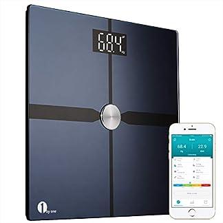 41%2BoswusmRL. SS324  - 1byone báscula de grasa corporal inalámbrico con aplicación IOS y Android, báscula de baño digital-Negro