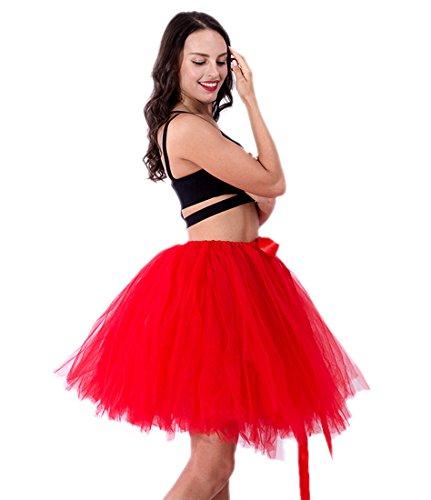Honeystore Damen's Vintage Tüllrock Prinzessin Falten Rock Tutu Petticoat Ballettrock Unterrock Pettiskirt One Size (Anna Selbstgemacht Kostüm)
