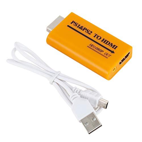 Preisvergleich Produktbild Styledress Für PS1 / PS2 Video / Audio zu HDMI Unterstützung HD 1080 Out Converter + 48cm USB-Kabel
