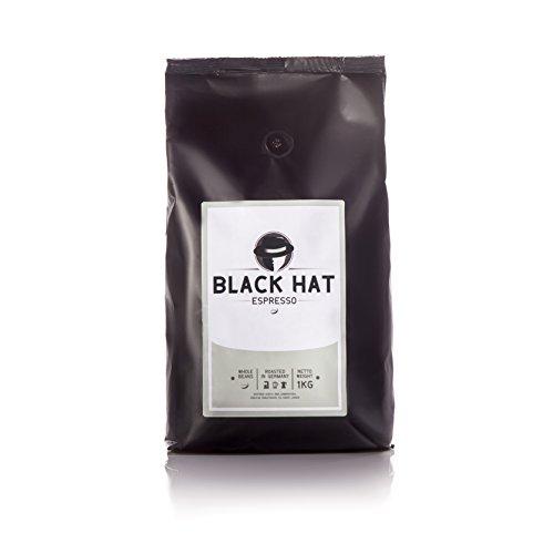 BLACK HAT ESPRESSO - mehr als Premium-Espressobohnen - 1 KG ganze Bohnen für Vollautomaten &...