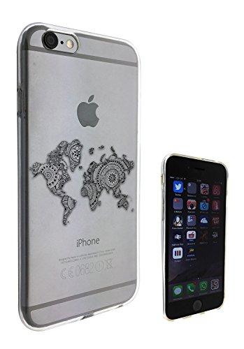 Iphone-hülle Map World 5c (c0269 - Aztec Design Cool Fun World Map Design iphone 6 6S 4.7'' Fashion Trend Silikon Hülle Schutzhülle Schutzcase Gel Rubber Silicone Hülle)