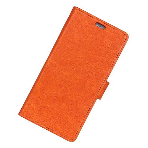 YUHUS Home Nützliche Handy Abdeckung case für Nokia 8, verrückte Pferd Muster Serie Multi Karte Business Eisen Schnalle Clamshell Schutz Phone Cover Shell für Nokia (Color : Orange Nokia 8) Clamshell Case