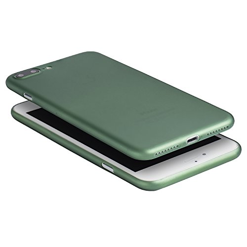 iPhone 7 Plus Hülle, Dünnste Hülle Premium Ultradünn Leicht Schmal Minimal Anti-Kratz Schutz Case - Für Apple iPhone 7 Plus | totallee (Burgundrot) Grün