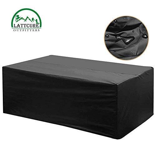 LATTCURE Funda Muebles Jardin Cubierta de Muebles Jardín Mesa Cubrir Conjuntos Impermeable UV Protección 213x132x74cm