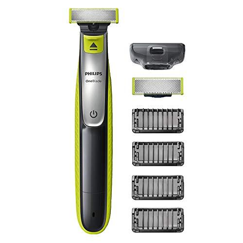 Philips OneBlade Face QP2530/30 avec 2 lames, 4 sabots barbe