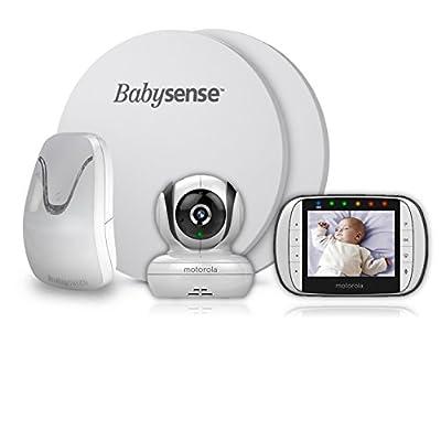 BabySense 7 Medically Certified Baby Breathing Sensor Monitor + Motorola MBP36S