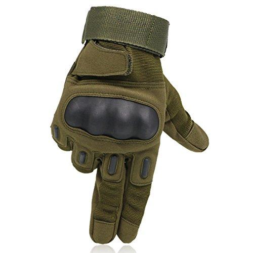 OMGAI Dito Completa Tattici Militari Guanti Uomo Di Duro Knuckle Per Airsoft Dell'Esercito Di Paintball Moto Sport E Verde XL - Camo Tactical Paintball
