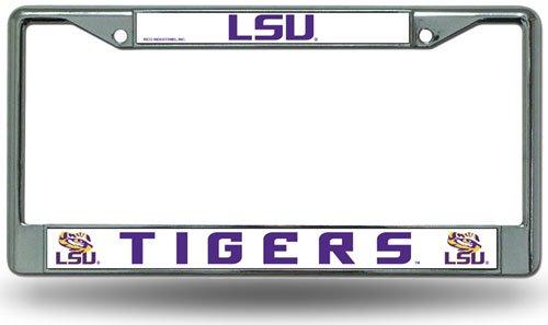 Rico LSU Tigers Offizieller NCAA Nummernschildrahmen Chrom von 340001 - Anhänger-reifen-halter