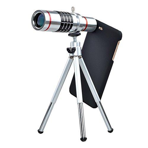 elecguru Kamera-Objektiv, Universal-Objektiv 18-fache Vergrößerung Universal-Objektiv, Optische Teleskoplinse für Handys von Samsung & HTC 18-fache Vergrößerung, Objektiv mit Stativ