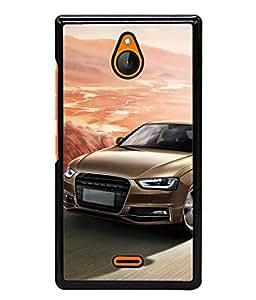 FUSON Designer Back Case Cover for Nokia X2 (Automobile Car Concept Drive Fuel)