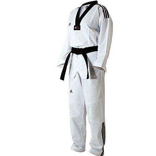 adidas - Dobok taekwondo ADI-FIGHTER 3 bandas collo negro T/160