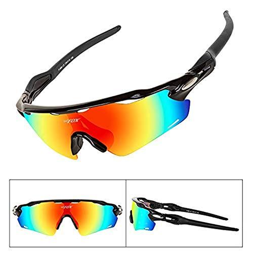 ANSKT Ultraleichte UV400-Sport-Sonnenbrille MTB-Straßenschutzbrillen Herren & Damen Outdoor-Brille Günstige DH-Brille, 3
