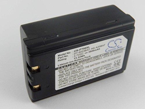 vhbw Li-Ion Akku 3600mAh (3.7V) für Barcode Scanner, Terminal, Handheld, PDA, POS Symbol SPT1842, SPT1846, SPT2700 wie 20-36098-01. (Pda-scanner Symbol)