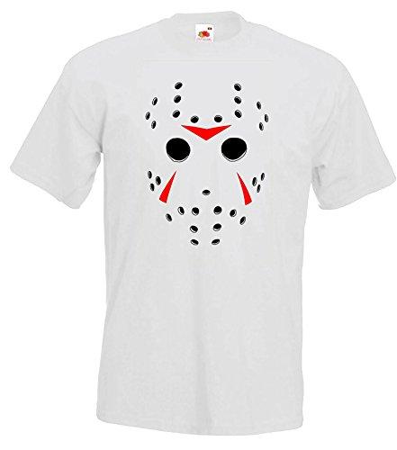 TRVPPY Herren T-Shirt Modell Freitag der 13., Weiß, XL (Der Hulk Halloween)