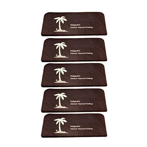 Heheja Leucht Anti Rutsch Stufenmatten Für Treppenteppich Selbstklebend Anti Rutsch Streifen Treppenmatte Dunkler Kaffee7
