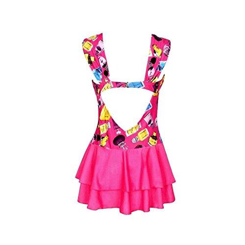 YXINY Bademode Badeanzüge Damen Schwimmen Kostüm Bikini Kleid Übergröße EIN Stück Bademode Sommer Badeanzug Baden Mädchen Bikinis (Farbe : 1, größe : 5XL(85-95KG))