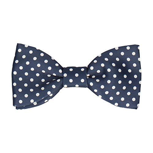 Mrs Bow Tie - Fliege with Dots, Fertig gebundene - Navy Blau/Weiß -