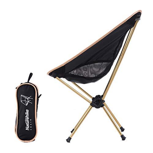 Zurück Stühle, Hocker (KLEDDP Stuhl im freien tragbare klappstuhl Camping Strand liegestuhl ultraleichte Freizeit Stuhl zurück fischenstuhl hocker Gold Klappstuhl)